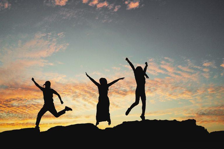 people, silhouette, success